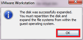 How To Expand A Virtual HDD In VMware Workstation 8