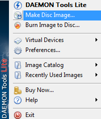 Daemon Tools Lite options