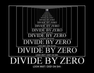 Dividing by zero: funny