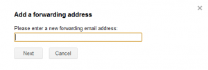 Specifying forwarding email address