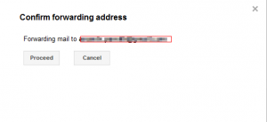 Verifying forwarding email address