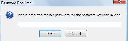 Master password upon launching of Thunderbird