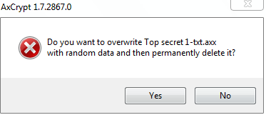 Permanently wiping files