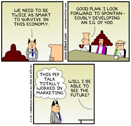 Corporate survival - Dilbert