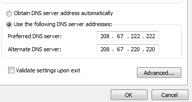 IP address details tab through network adapter properties in Windows