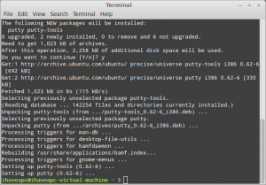 How To Install And Use PuTTY In Linux Mint / Ubuntu