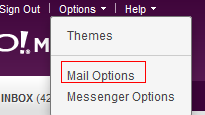 Accessing Yahoo! mail settings