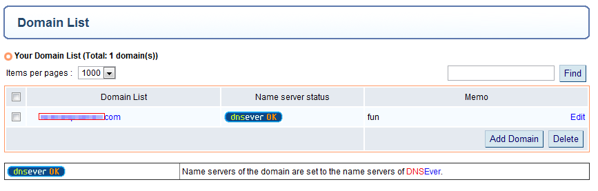 DNS manager in DNSEver