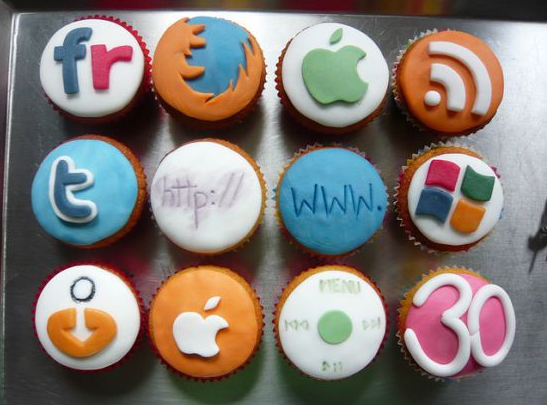 Birthday cake for internet addicts
