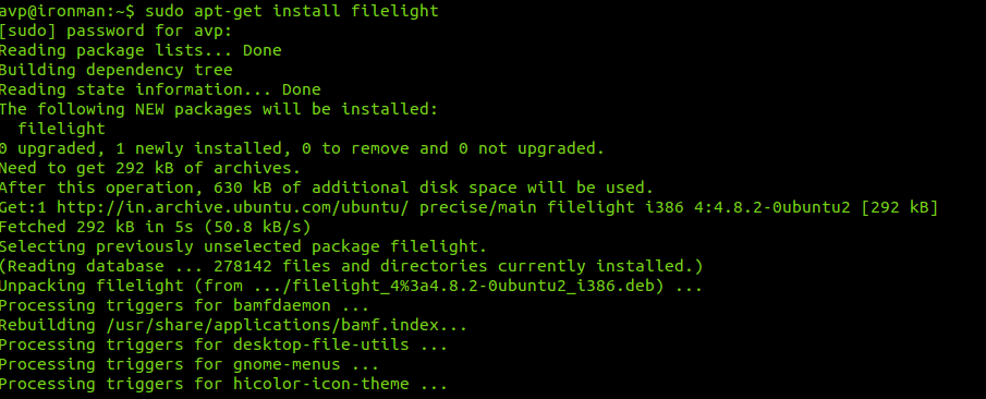 Installing Filelight