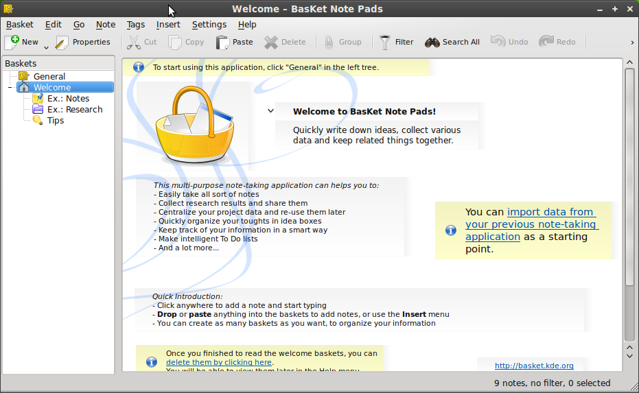 How To Install BasKet Note Pads (A OneNote Like Application