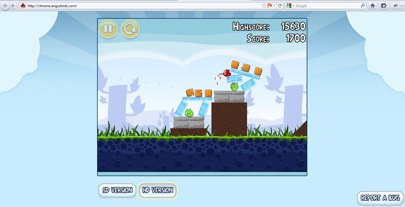 How to play free online version of angry birds in firefox ie tagsangry voltagebd Choice Image