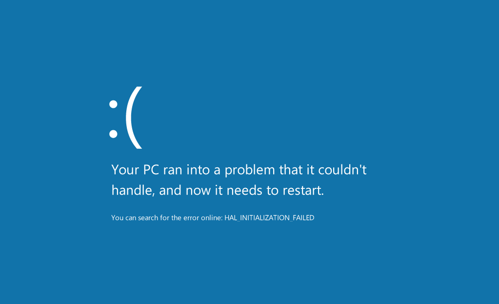 Windows 8 - Blue Screen Of Death