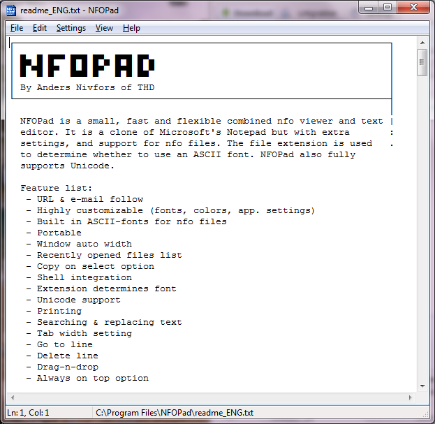 NFOPad: Time To Dump The Old Windows Notepad - I Have A PC | I Have A PC