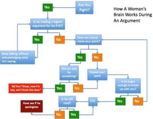 How Man and Woman Think During An Argument