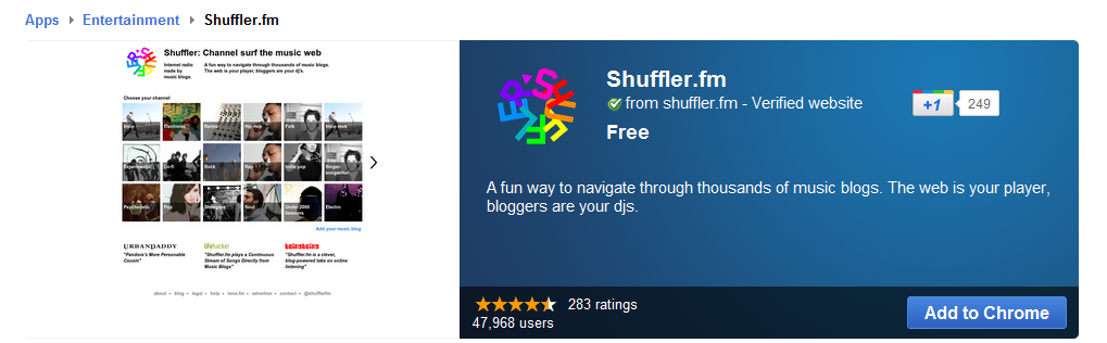 Install Shuffler from Chrome web store