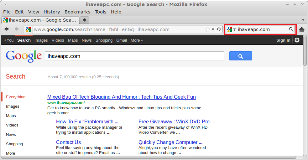 How To Enable Google Search For Firefox In Linux Mint 12