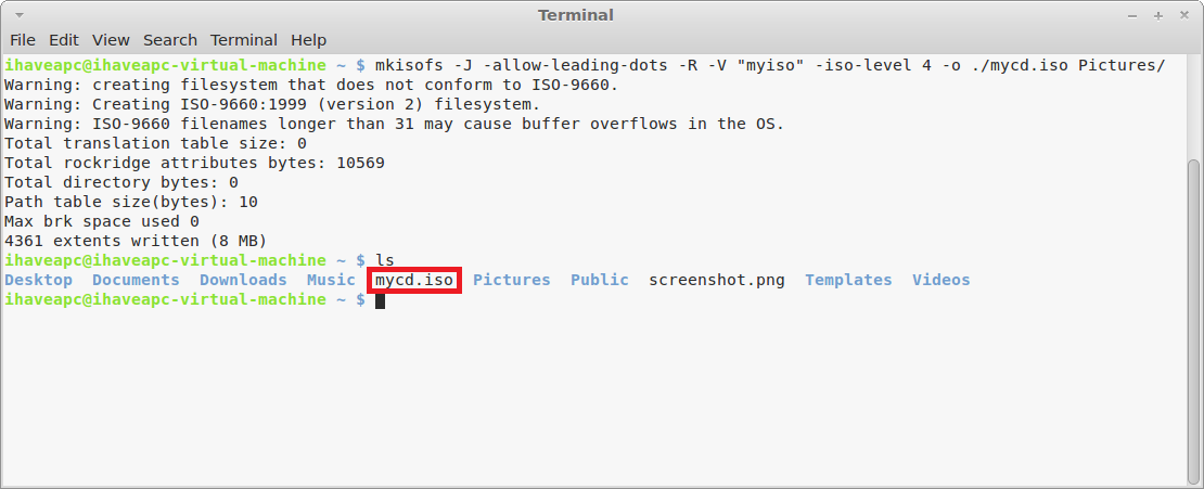 How To Convert Any Folder To ISO Image From Linux Terminal