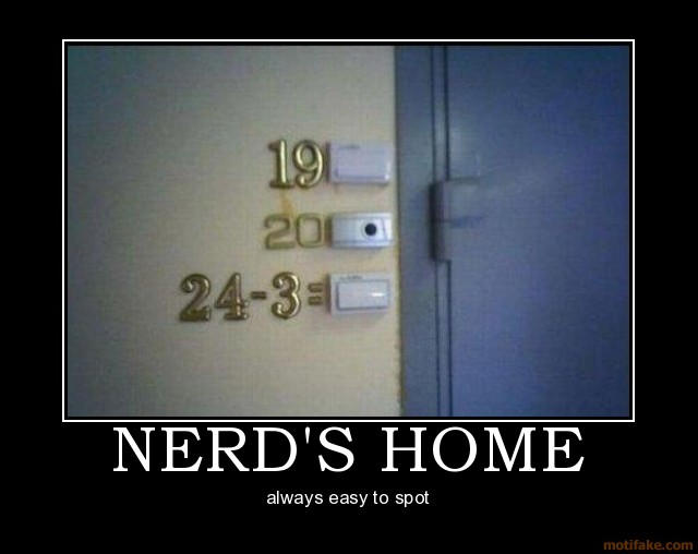 Nerd's home funny pic