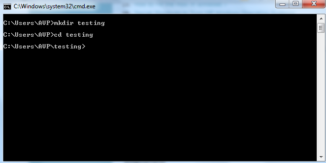 Create directory in Windows using command prompt