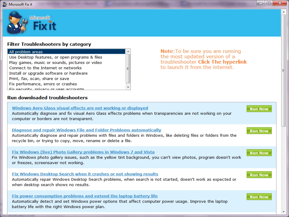 Microsoft Fixit Portable - How To Use