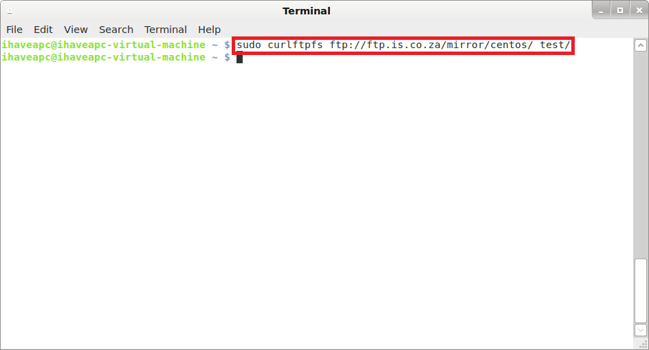 How To Mount Remote FTP Site As A Local Folder From Terminal In Linux Mint / Ubuntu