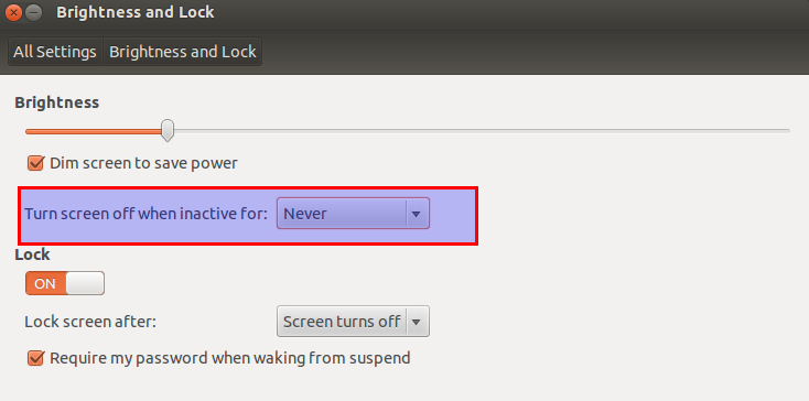 Changing screen lock settings in Ubuntu 12.04 LTS
