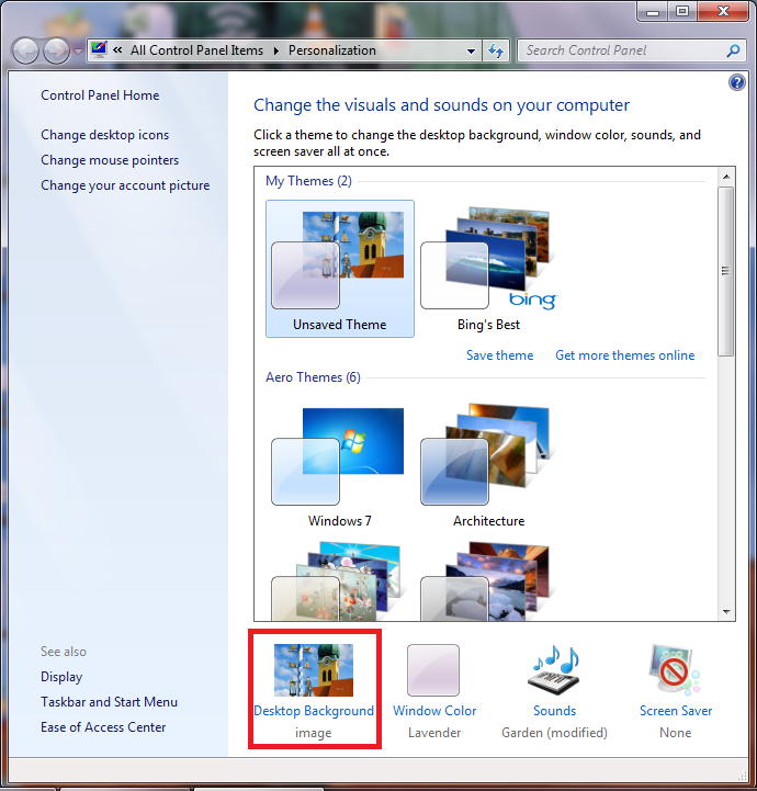 My Saves Bing: How To Quickly Save Bing Desktop Wallpapers In Windows 7