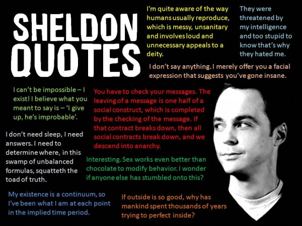 Funny Sheldon Quotes