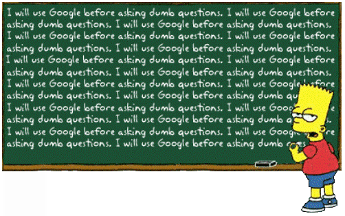 Bart Simpson's Message For Internet Users