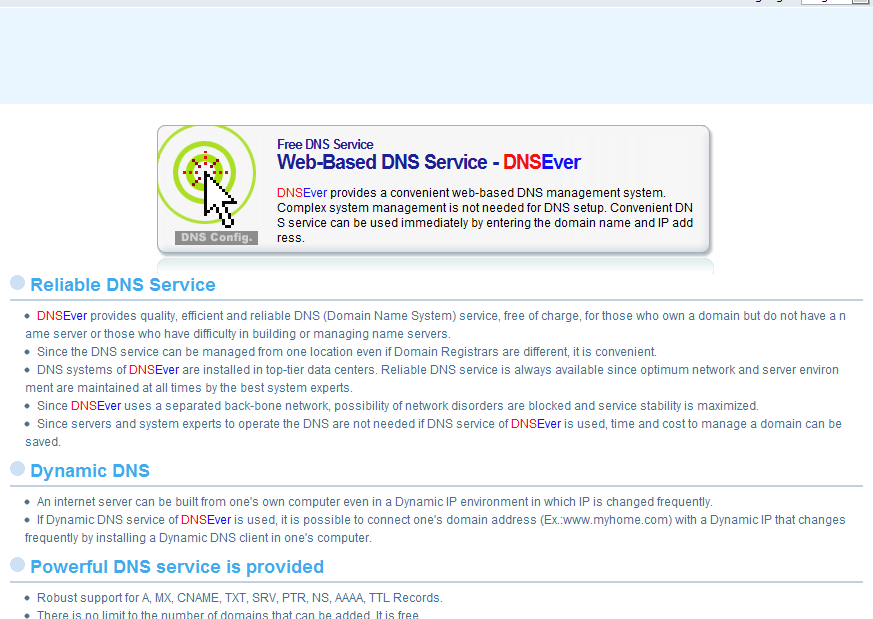 DNSEver home page