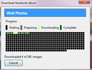 Album download in progress through Facepaste