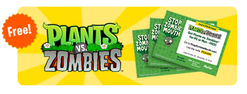 Free Plants Vs Zombies Giveaway by ADA and PopCap Games This Halloween