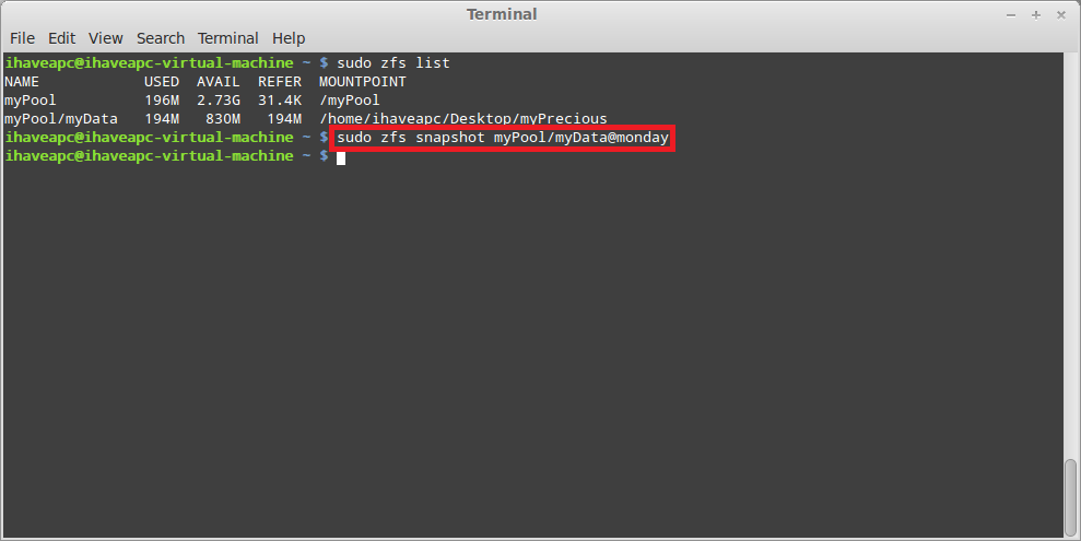 Installing And Using ZFS In Linux Mint / Ubuntu – Part 6