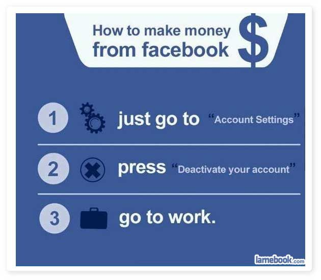 Make money from Facebook : funny