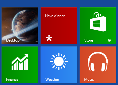 RemindMe reminder on Windows 8 start screen