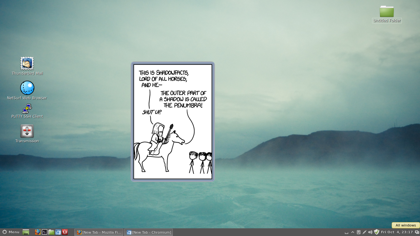 xkcd comic viewer desklet in Linux Mint 15