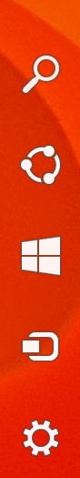 Windows 8.1 charms