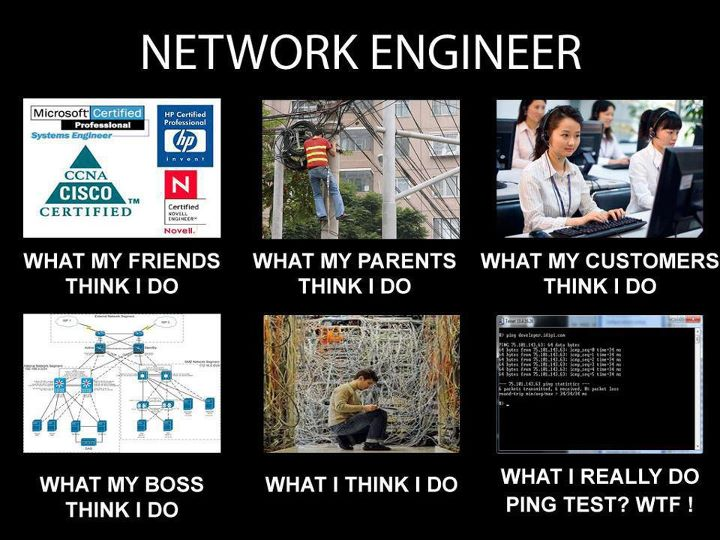 life of a network engineer : funny