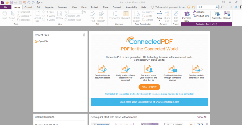 Foxit PhantomPDF user interface