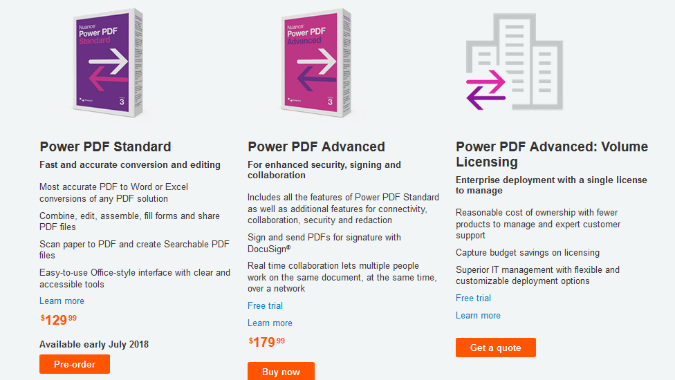 Nuance Power PDF pricing