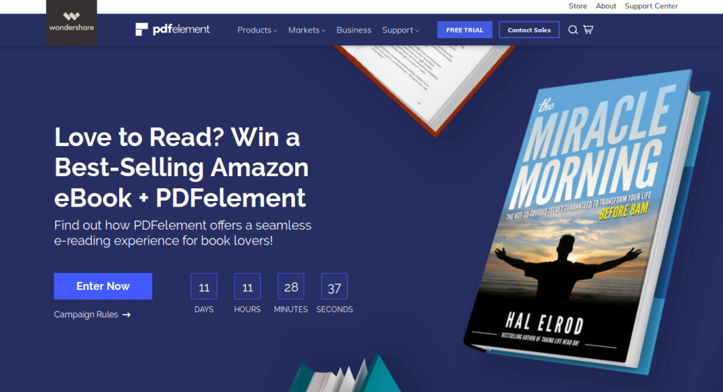 PDFelement 6 campaign for Amazon e-book