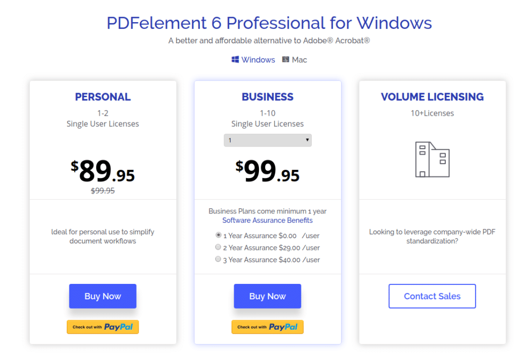 PDFelement 6 pricing