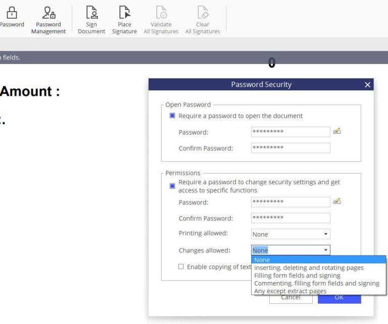 protecting documents using PDFelement 6