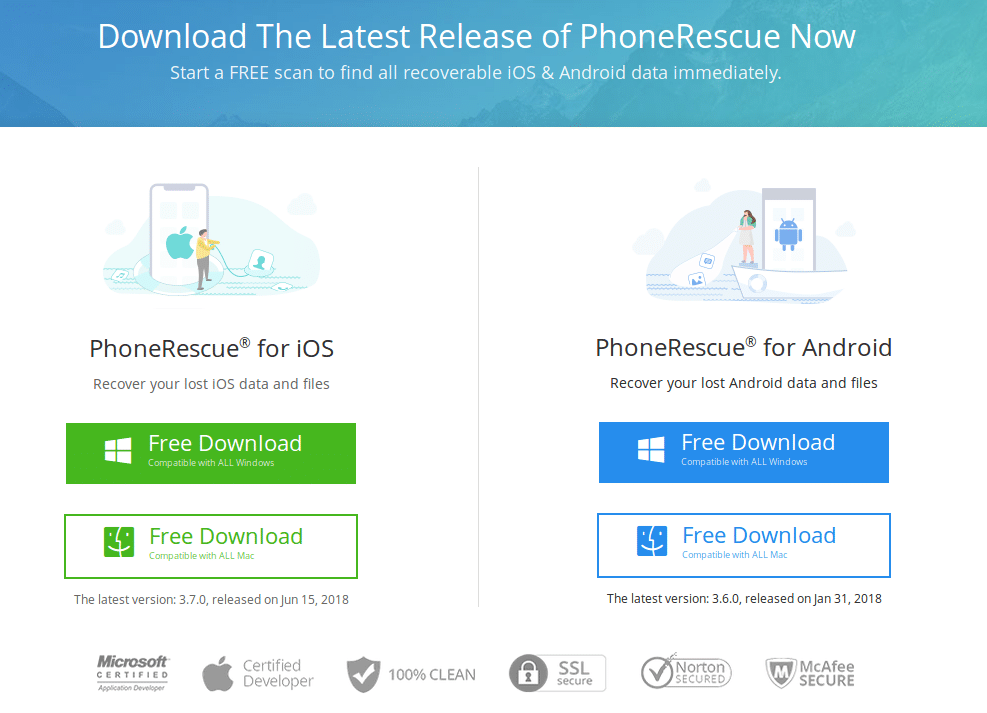 iMobie PhoneRescue download page