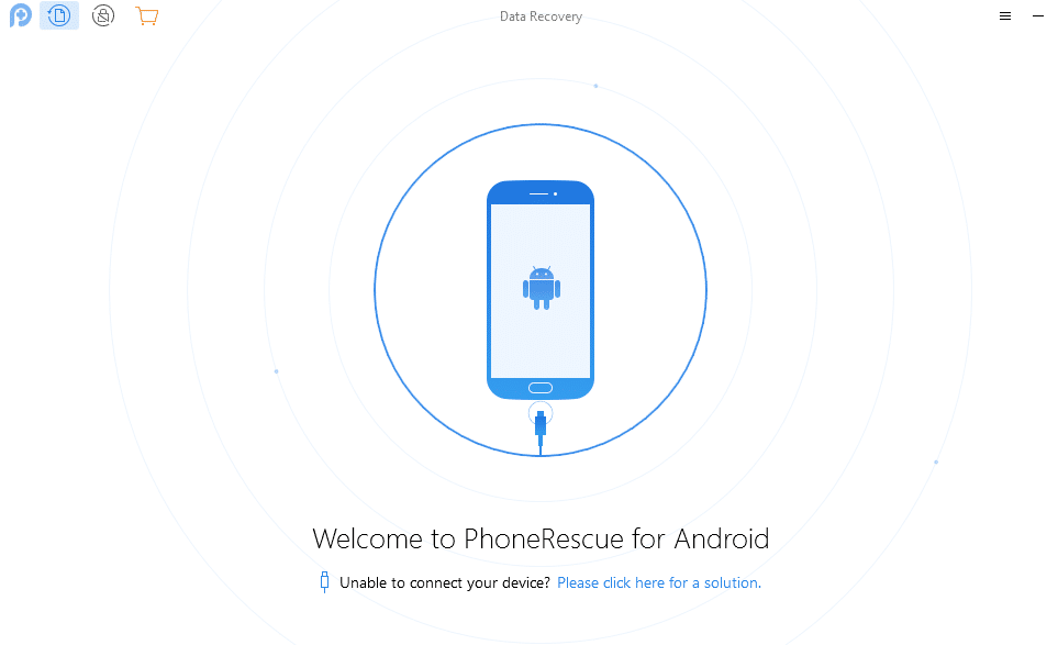 connecting Android device to PC when using PhoneRescue