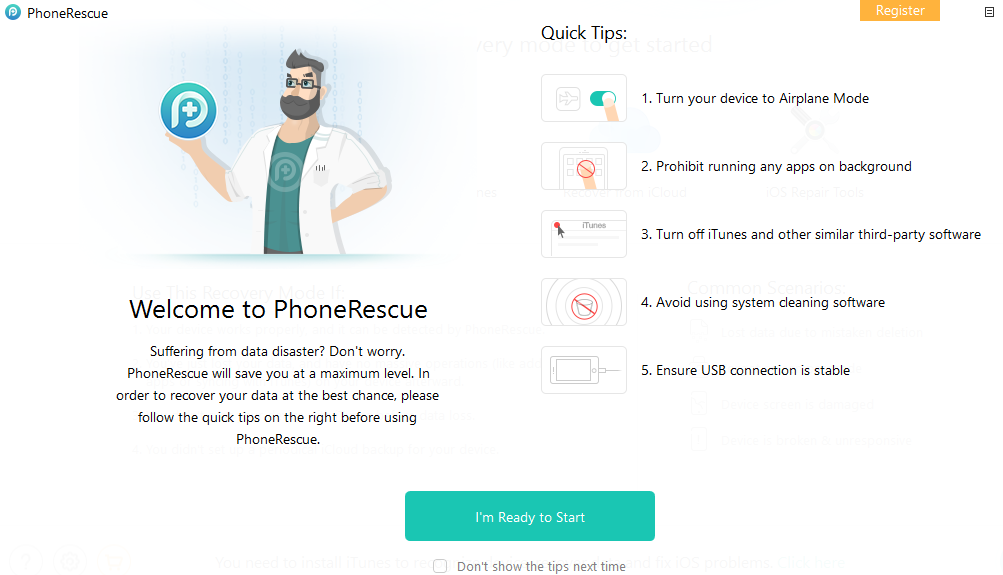 Using PhoneRescue for iOS
