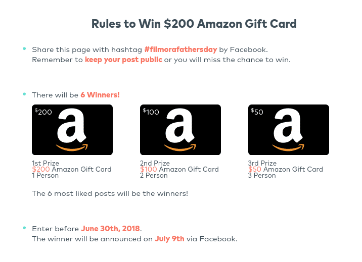 wondershare father's day giveaway rules