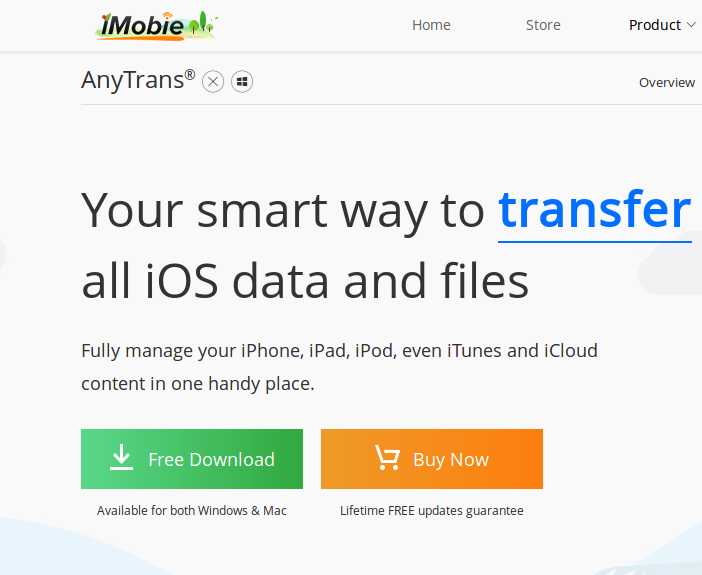 AnyTrans download page