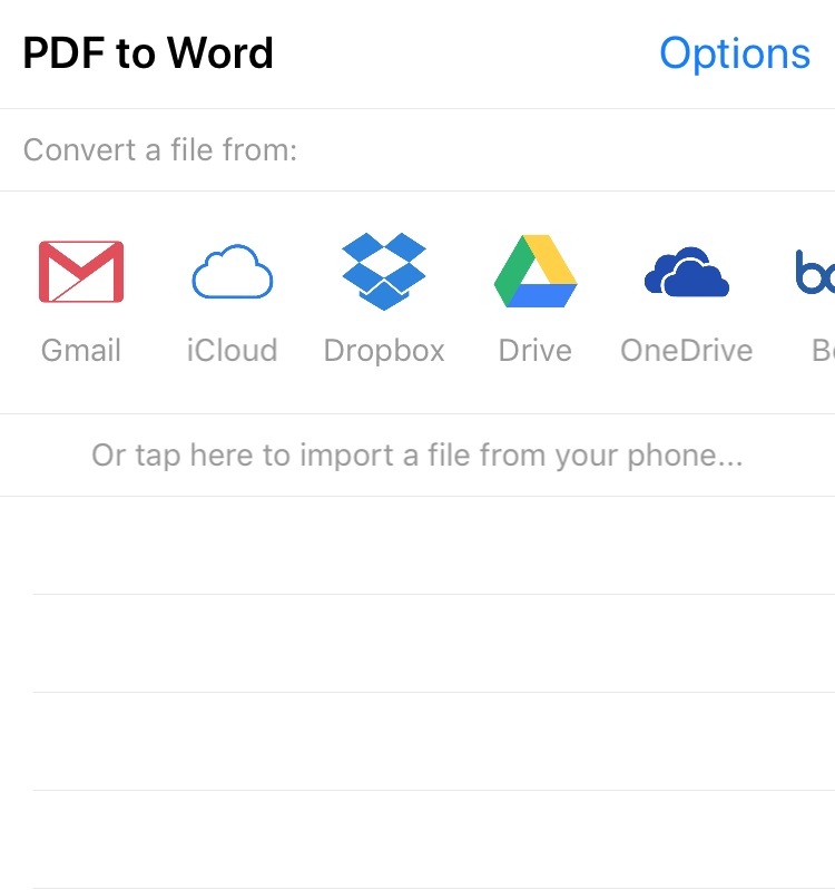 PDF to Word Converter app for Apple devices